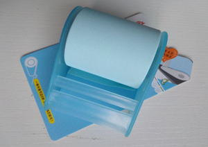 Washi paper sticker with tape dispenser